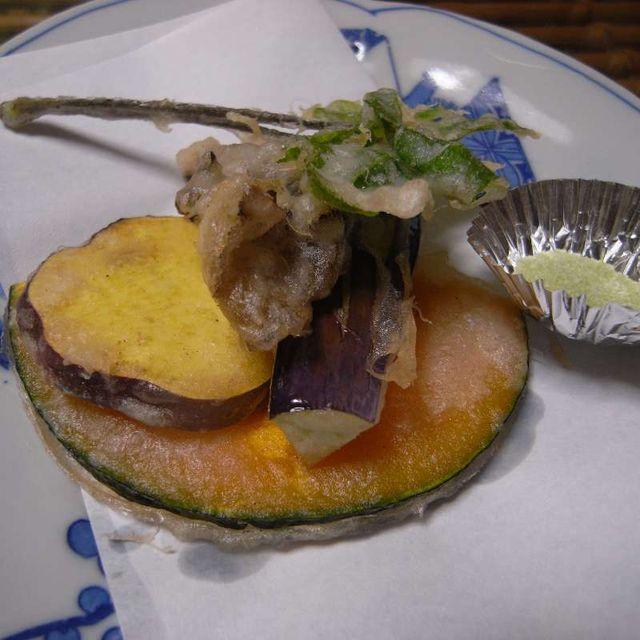 大文字庵おすすめセット 季節野菜の天ぷら